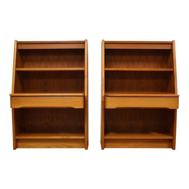 Danish Modern Teak Nightstands A Pair Mixed Modern: danish modern furniture