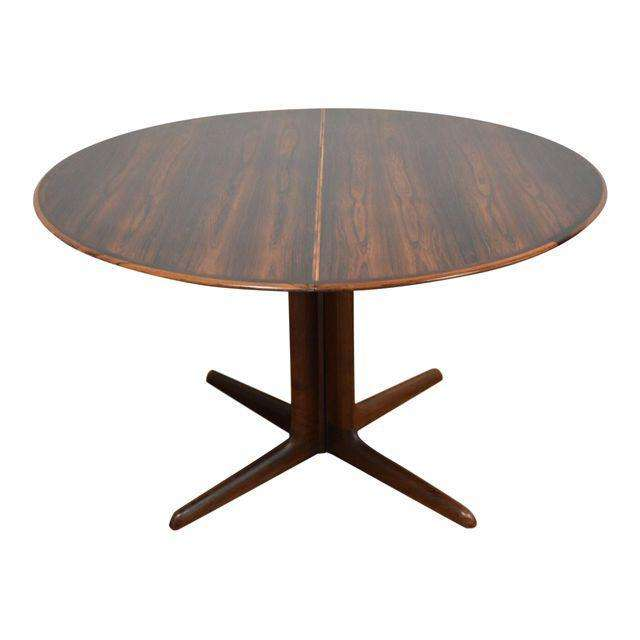 Dyrlund Rosewood Round Dining Table Mixed Modern Furniture Mid Century Furniture Dealer