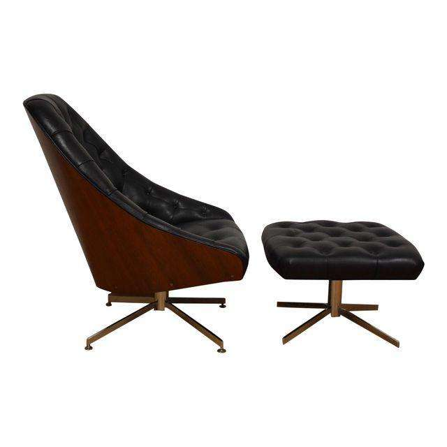 Milo Baughman For Thayer Coggin Lounge Chair Ottoman Mixed Modern Furniture Mid Century Dealer