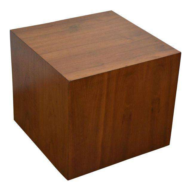 Genial Milo Baughman Style Walnut Cube End Table   Mixed Modern Furniture | Mid  Century Furniture Dealer