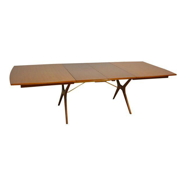 Rway Walnut X Base Dining Table With Leaves Mixed Modern Furniture Mid Century Dealer