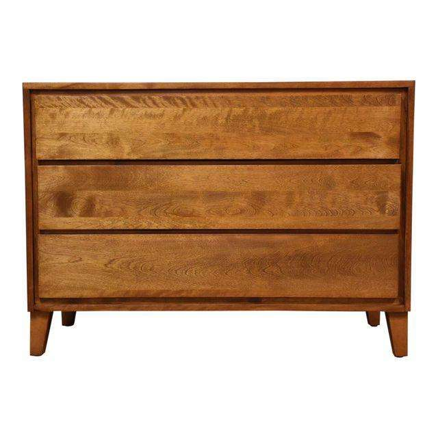 American Modern Conant Ball Dresser Chest Mixed Modern