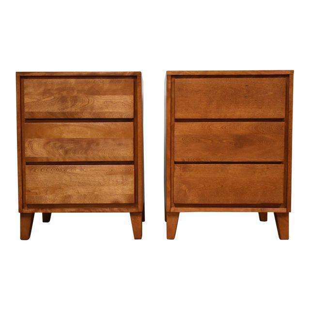 American Modern Conant Ball Nightstands A Pair Mixed