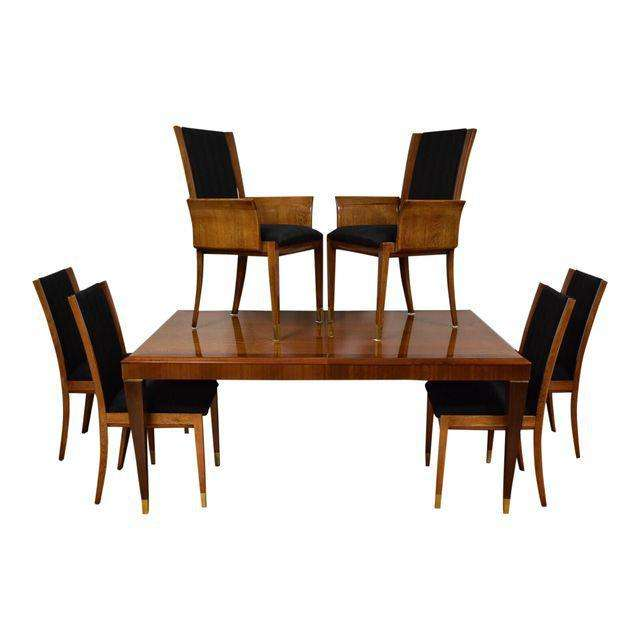Mahogany Henredon Dining Table U0026 Chairs   Mixed Modern Furniture | Mid  Century Furniture Dealer