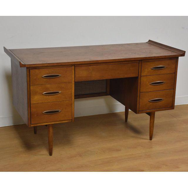 Broyhill Sculptra Walnut Desk Mixed Modern Furniture Mid Century Dealer