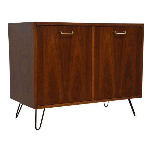 American Of Martinsville Walnut Bar Mixed Modern Furniture Mid Century Dealer