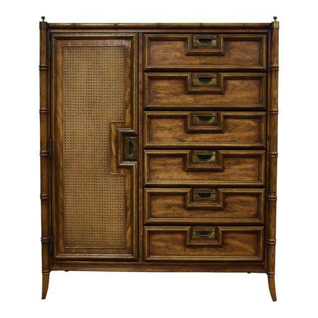Delightful Faux Bamboo Hollywood Regency Dresser Armoire   Mixed Modern Furniture |  Mid Century Furniture Dealer