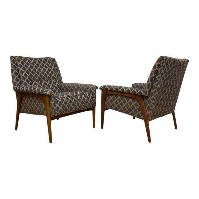 Ordinaire Geometric Grey Lounge Chairs   A Pair   Mixed Modern Furniture | Mid  Century Furniture Dealer