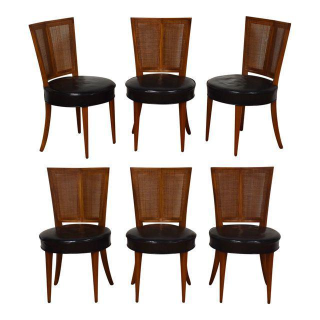 Michael Taylor For Baker Dining Chairs   Set Of 6   Mixed Modern Furniture  | Mid Century Furniture Dealer