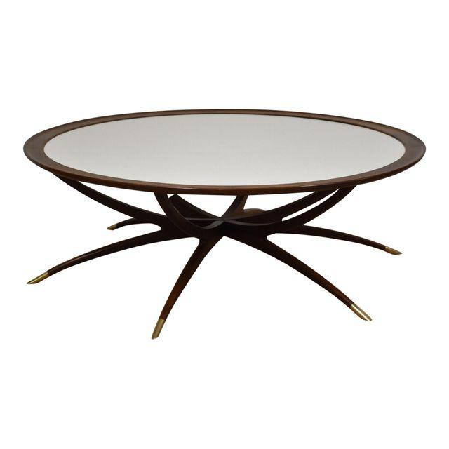 Danish Spider Leg Round Coffee Table