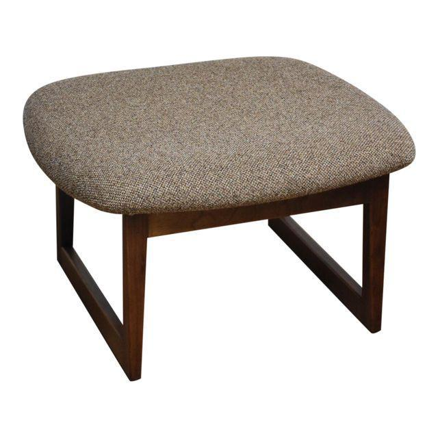 Jens Risom Walnut Ottoman   Mixed Modern Furniture | Mid Century Furniture  Dealer