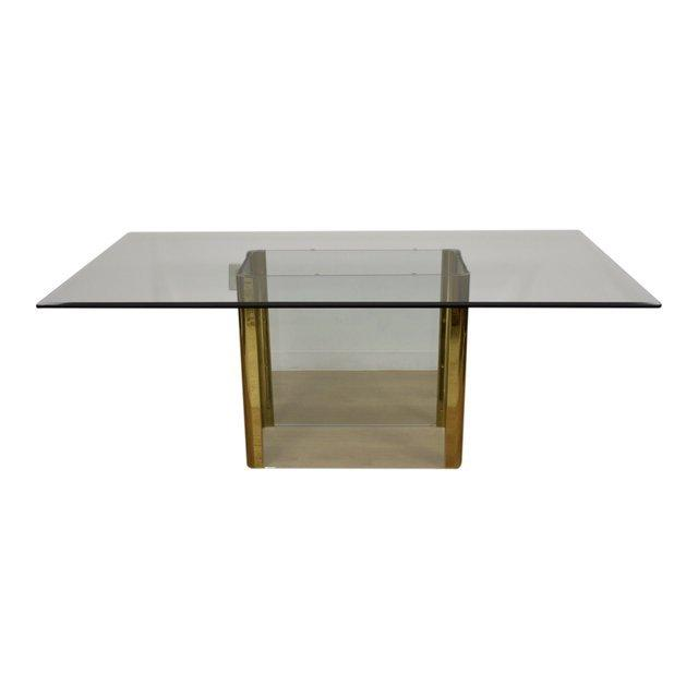 Gl And Br Dining Table By Pace Mixed Modern Furniture Mid Century Dealer