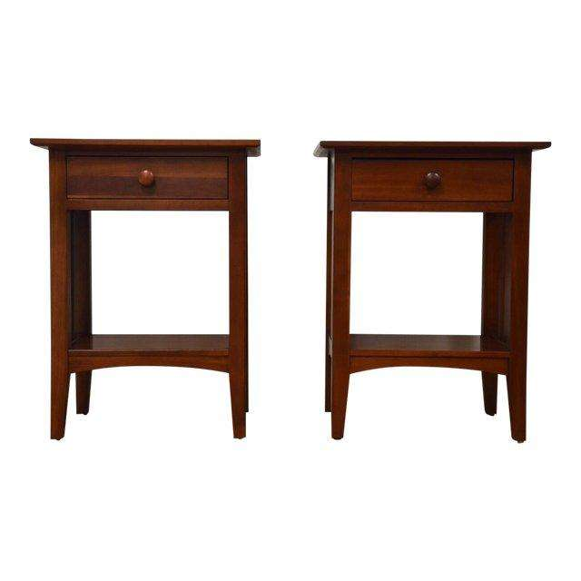 Astonishing Ethan Allen American Impressions Cherry Nightstands A Pair Gmtry Best Dining Table And Chair Ideas Images Gmtryco