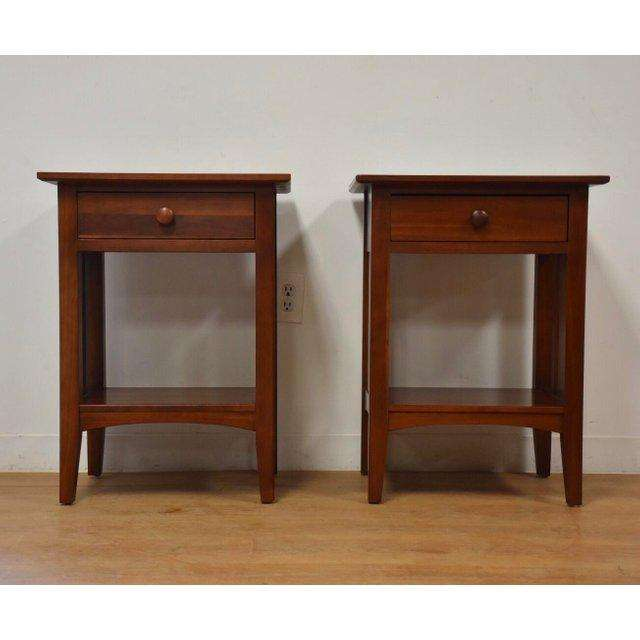 Pleasing Ethan Allen American Impressions Cherry Nightstands A Pair Gmtry Best Dining Table And Chair Ideas Images Gmtryco