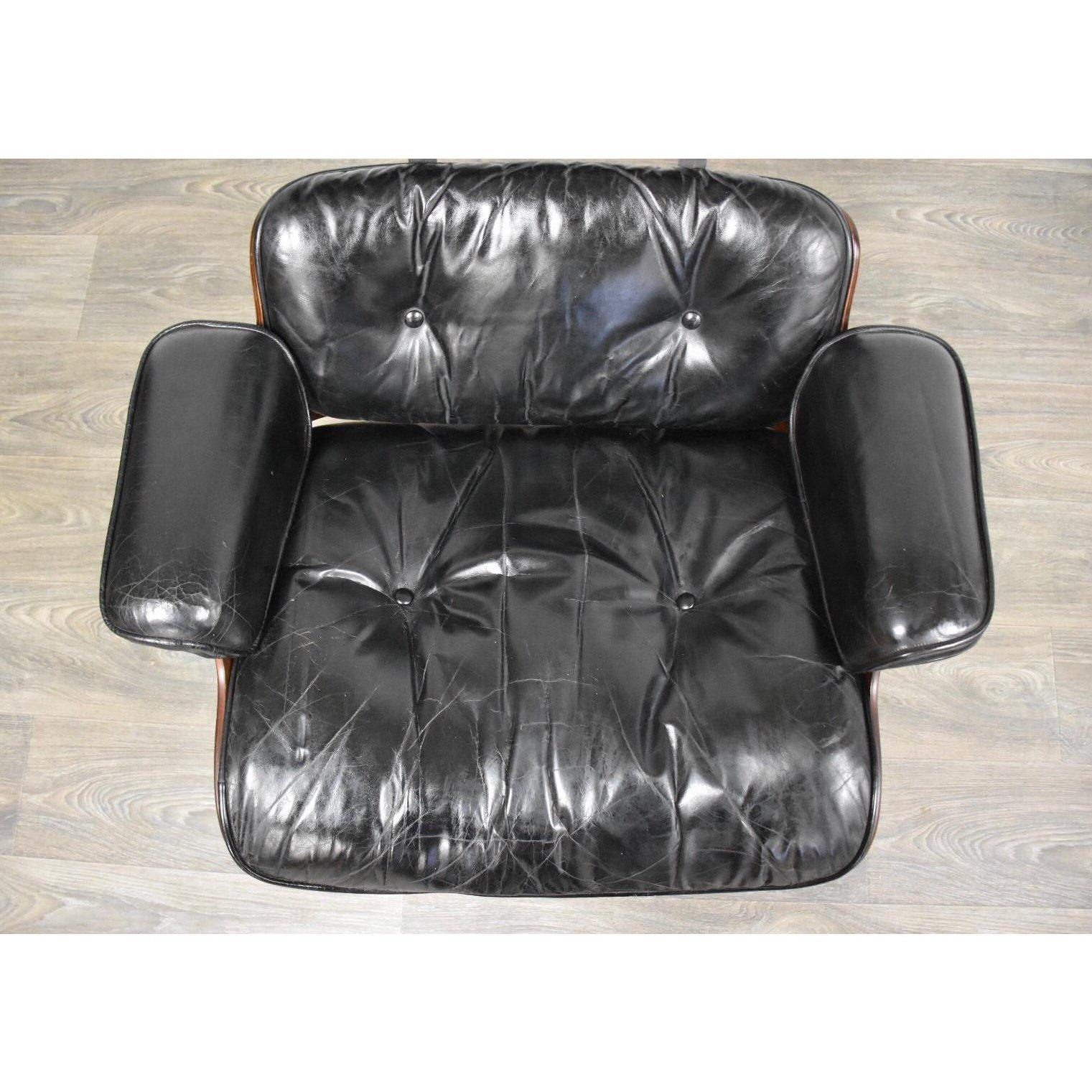 Magnificent Original Herman Miller Eames Lounge Chair Ottoman Dailytribune Chair Design For Home Dailytribuneorg