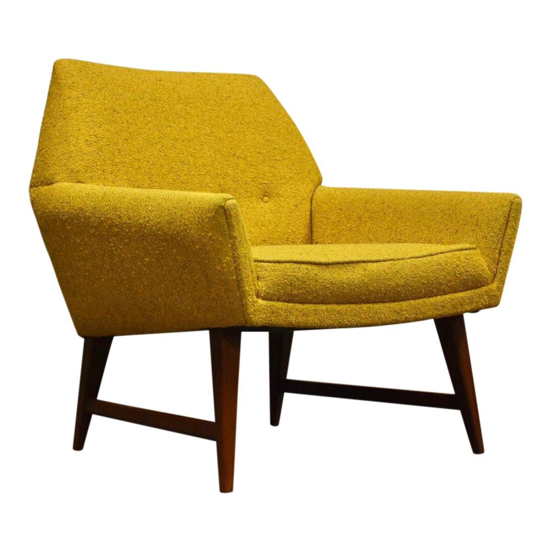 Yellow Mid Century Lounge Chair Mixed Modern Furniture Mid
