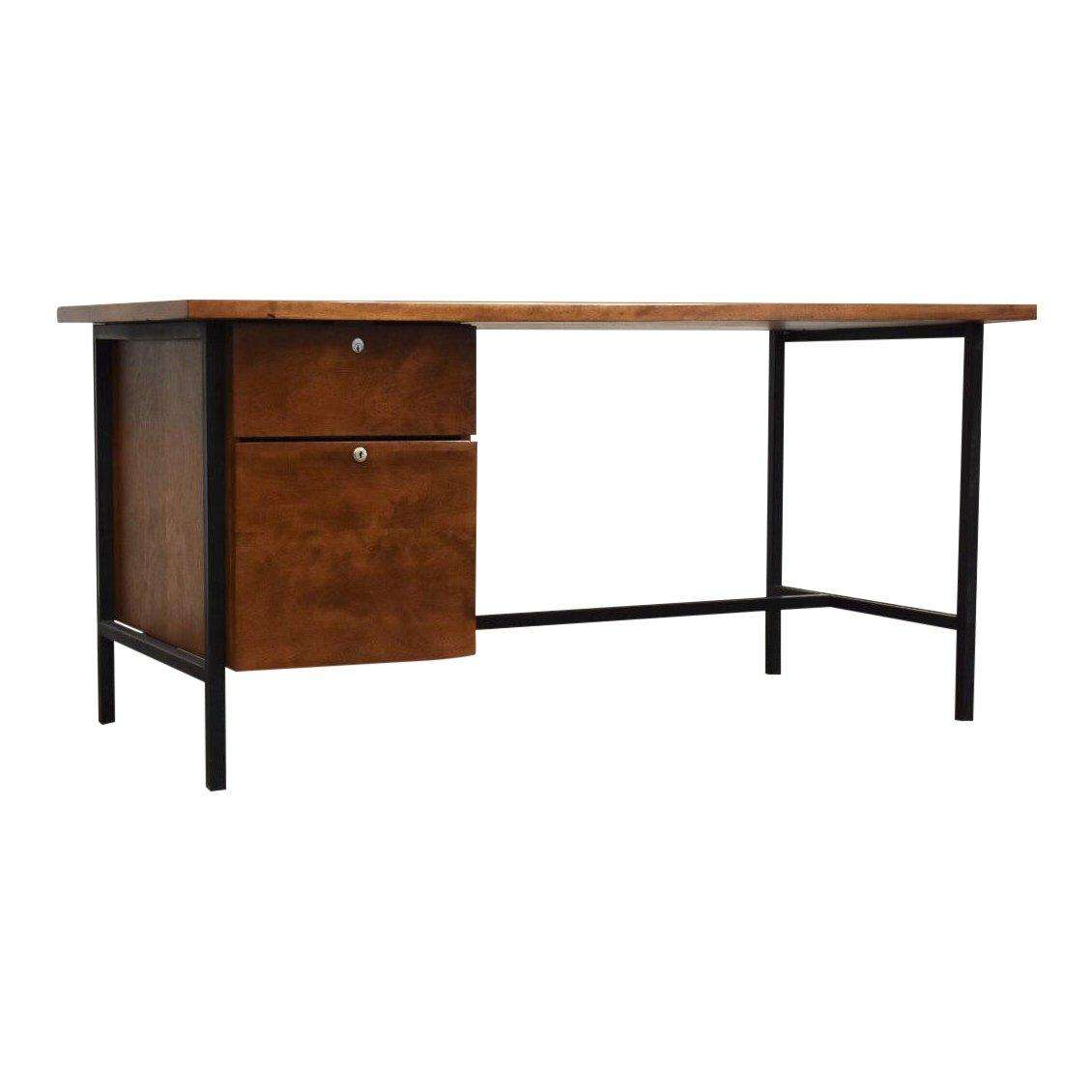 Florence Knoll Style Mid Century Desk Mixed Modern Furniture Dealer