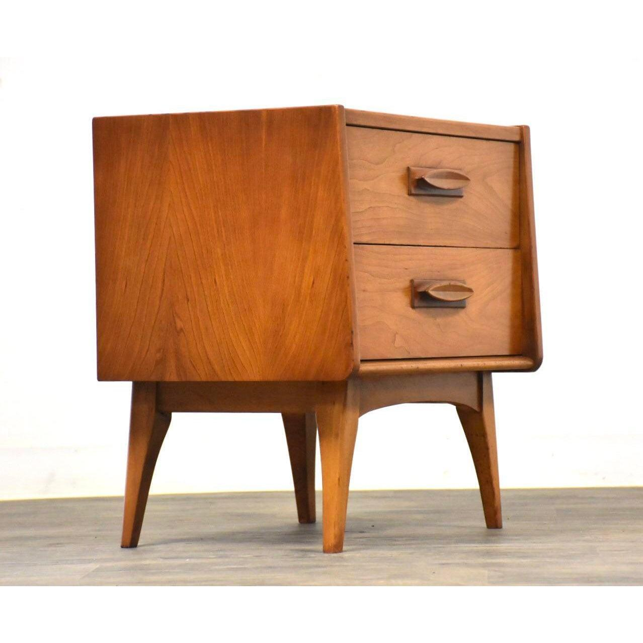 Cherry Modern Nightstand By United Furniture