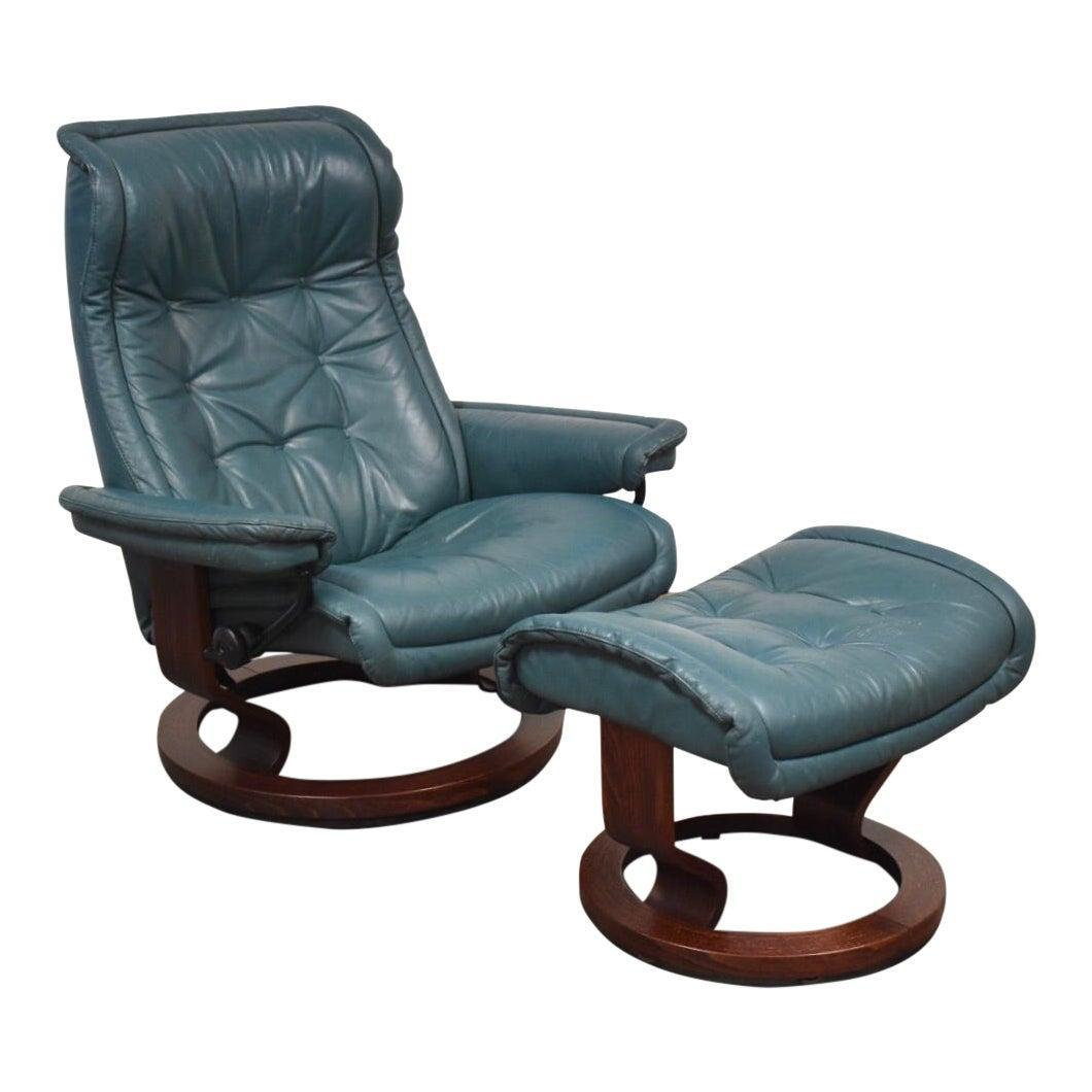 Fine Modern Leather Stressless Ekornes Lounge Chair Ottoman Gmtry Best Dining Table And Chair Ideas Images Gmtryco