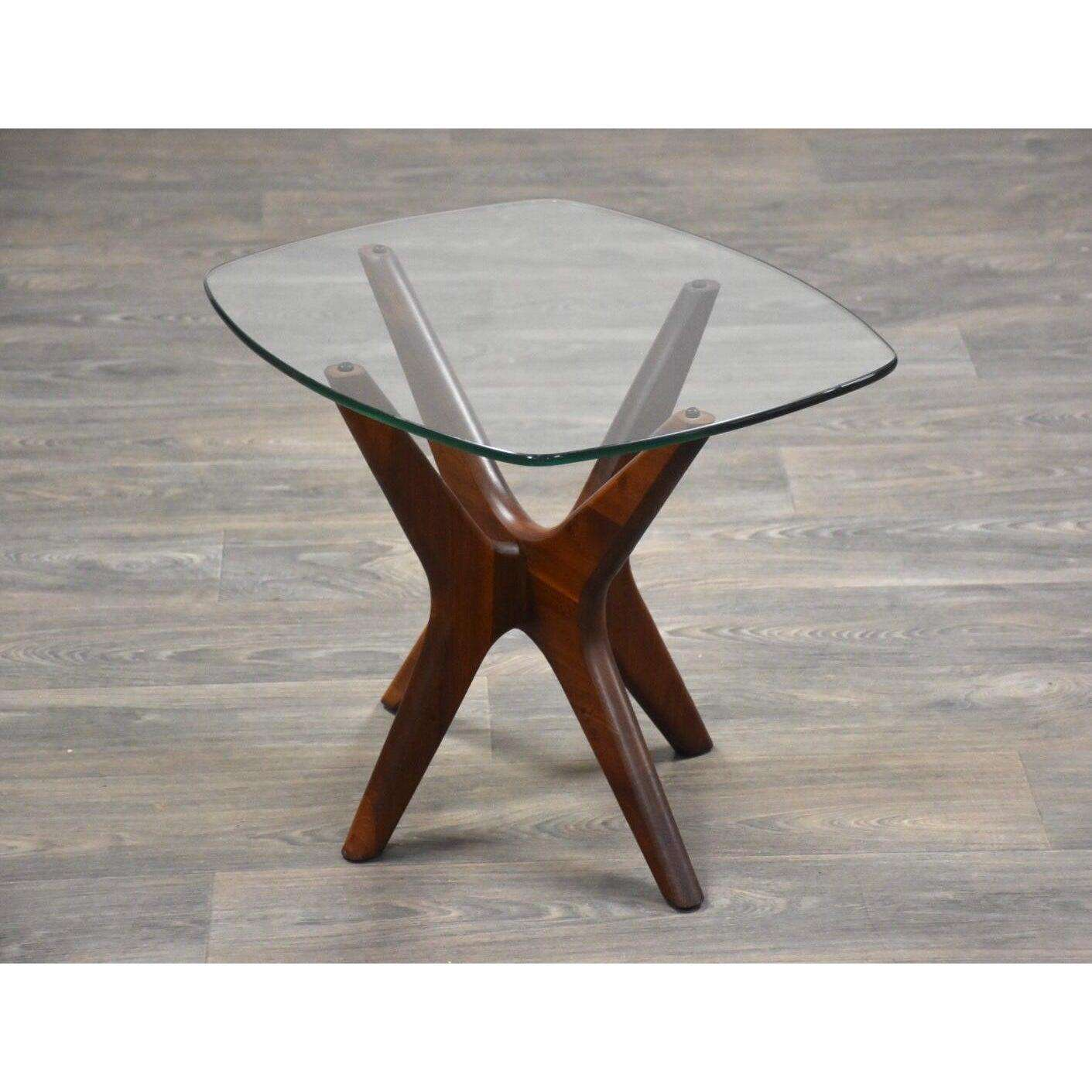 Adrian Pearsall Jacks Walnut And Glass End Table Mid Century Modern Mixed Modern Furniture Mid Century Furniture Dealer