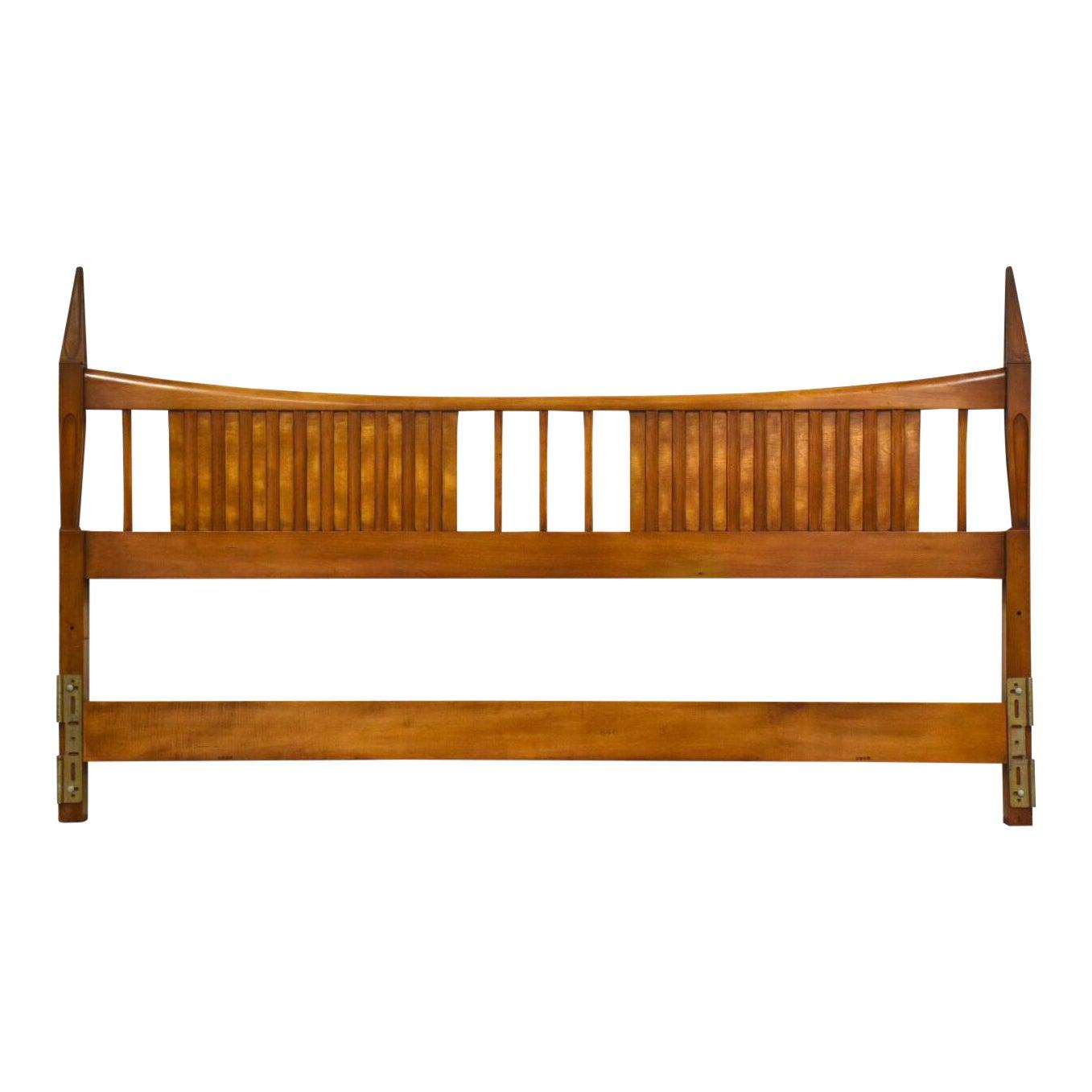 John Widdicomb King Mid Century Modern Walnut Headboard Mixed Modern Furniture Mid Century Furniture Dealer