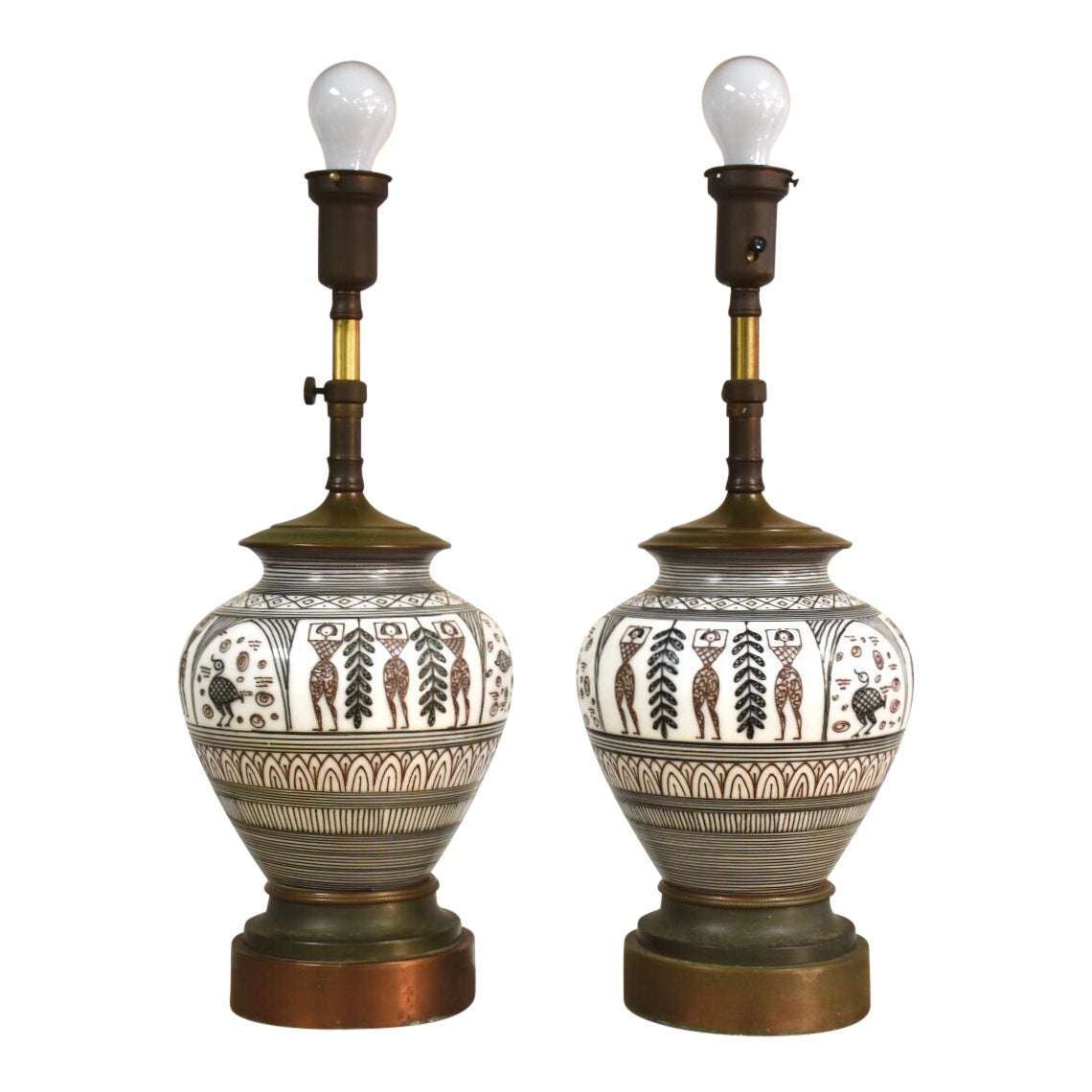 Hand Painted Mid Century Modern Table Lamps A Pair Mixed Modern Furniture Mid Century Furniture Dealer